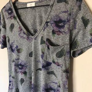 Anthropologie Tops - Anthropologie Tla Floral V-Neck Shirt